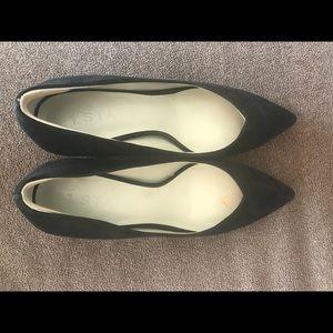 1. State Black Suede heels